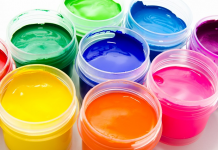 A variety of paints.