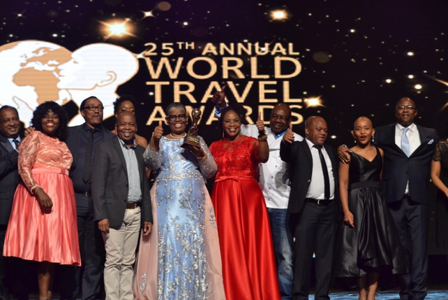 Some of the winners receiving awards at the 25th edition of the World Travel Awards.