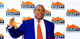 Equity Bank Group CEO Dr.James Mwangi.