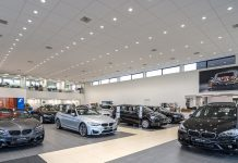 A BMW showroom