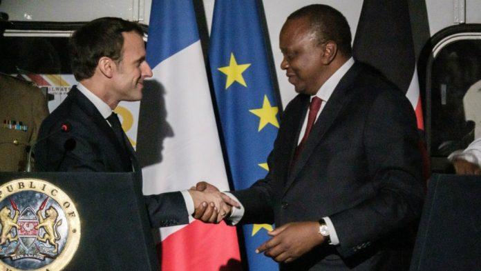 French president and Kenyan president
