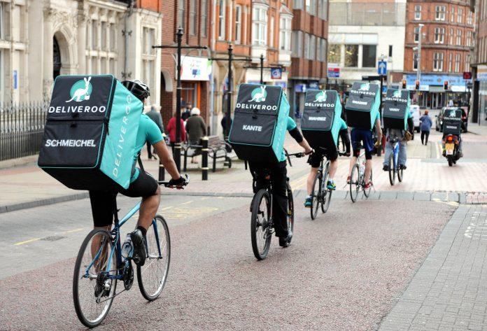 Deliveroo riders.