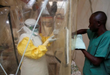 An Ebola patient in quarantine