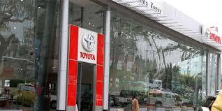 A Toyota showroom in Nairobi.