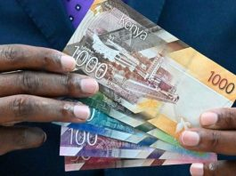 The new Kenyan paper currency.