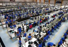 Inside a textile factory