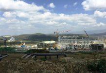 Construction continues at KenGen's Olkaria V geothermal plant.
