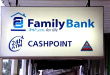 A Family Bank ATM marker.