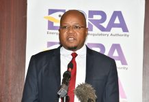 EPRA Director General Pavel Oimeke speaking during the Energy Management Compliance Certificate ceremony at the Sarova Stanley , Nairobi.