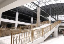 The inside of the under construction new Wakulima Market.