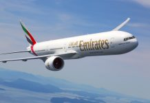 An Emirates Airline aeroplane