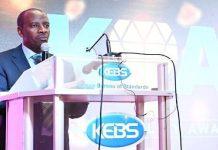 KEBS Managing Director Bernard Njiraini.