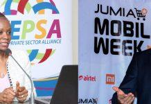 KEPSA CEO Carole Karuga and her counterpart JUMIA CEO Sam Chappatte.