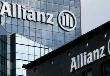 The logo of Europe's biggest insurer Allianz Jubilee Inurance