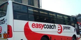 An Easy Coach bus.