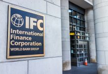FC entrance with sign of International Finance Corporation World Bank Group