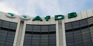 The headquarters of the Africa Development Bank (AfDB) as pictured in Abidjan, Ivory Coast.