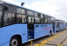 The high capacity BRT buses unveiled by Isuzu on 15/10/2018.