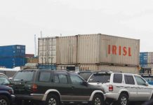 Second Hand cars at the Mombasa Port.