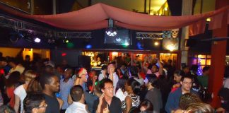 Revellers at an entertainment joint in Nairobi.