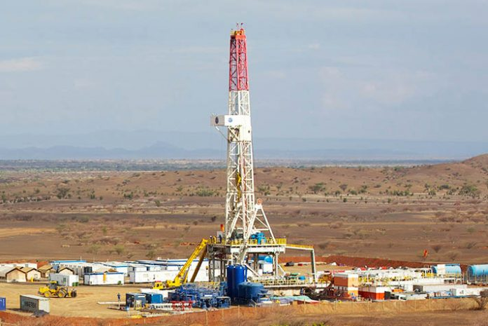 A Tullow Oil rigging site-inTurkana.