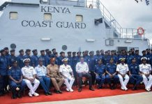 President Uhuru Kenyatta launches the Kenya Coast Guard Service in Liwatoni, Mombasa, on Monday