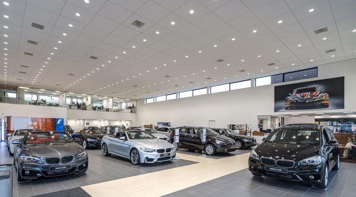 A BMW showroom