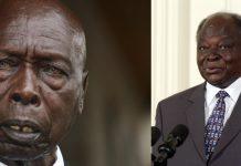 Retired presidents Daniel Moi and Mwai Kibaki.
