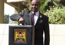 Treasury Cabinet Secretary Henry Rotich with this year's Budget statement.