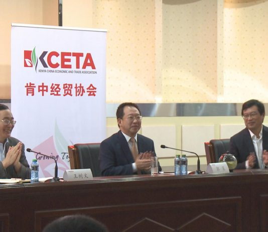 Kenya Chinese Economic Trade Association (KCETA) board members at a past event.