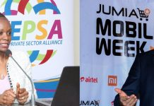 KEPSA CEO Carole Karuga and her counterpart JUMIA CEO Sam Chappatte.