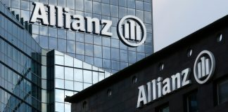 The logo of Europe's biggest insurer Allianz Jubilee Inurance