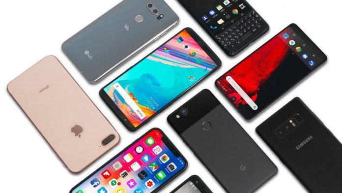 Different types of smartphones
