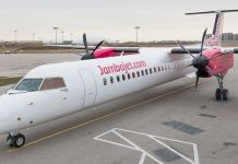 A small Jambojet airliner