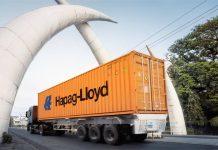 A Hapag-Lloyd truck transporting cargo.