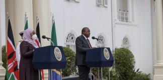 President Uhuru Kenyatta of Kenya and Tanzania Head of State Samia Suluhu Hassan.