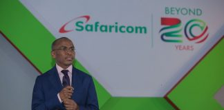 Safaricom CEO Peter Ndegwa.