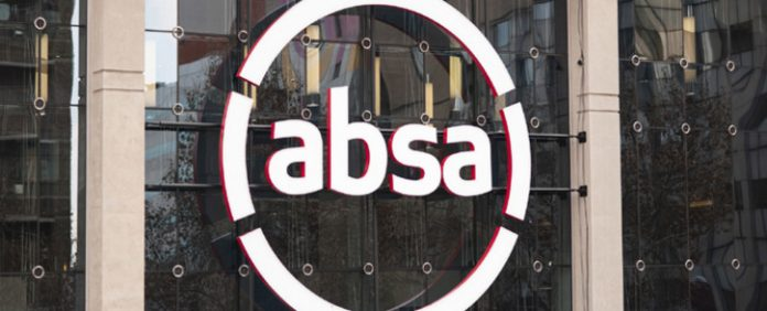 Absa logo on the side of a building